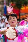 Le danseur australien chinois souhaite la bienvenue à premier ministre Li Keqiang, Sydney Au Images stock