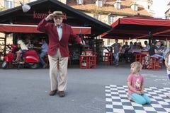 Le danseur d'étape le plus âgé dans le monde Photo libre de droits
