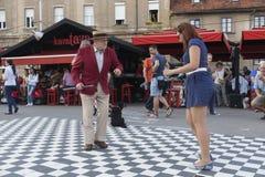 Le danseur d'étape le plus âgé dans le monde Image stock