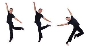 Le danseur d'isolement sur le fond blanc Photos libres de droits