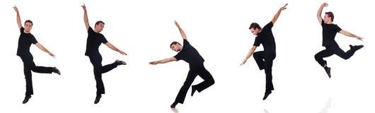 Le danseur d'isolement sur le fond blanc Photographie stock libre de droits