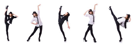 Le danseur de femme dansant des danses modernes Photographie stock