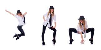 Le danseur de femme dansant des danses modernes Photos libres de droits