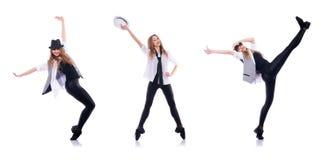 Le danseur de femme dansant des danses modernes Images stock