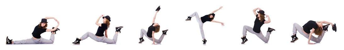 Le danseur de femme dansant des danses modernes Image libre de droits