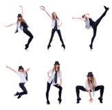 Le danseur de femme dansant des danses modernes Photos stock