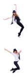 Le danseur de femme dansant des danses modernes Image stock