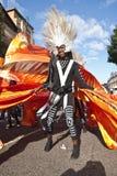 Le danseur de l'acajou célèbrent le monde Photo stock