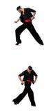 Le danseur espagnol dans diverses poses sur le blanc Image stock