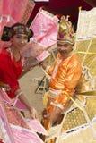 Le danseur exécutent la danse thaïlandaise traditionnelle Images stock