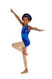 Le danseur heureux Child d'Acro avec des jambes se retirent dedans Photos libres de droits