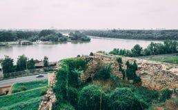 Le Danube près de la forteresse de Belgrade photographie stock