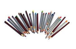 Le ¡ de Ð olored des crayons sur un fond blanc photos stock