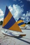 Île de caïman de bateaux à voiles Images libres de droits