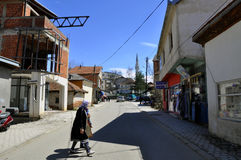Le ¡ de DragaÅ, Dragash est une ville et une municipalité dans le secteur de Prizren de Kosovo du sud image libre de droits
