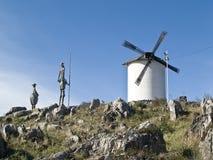 le de mettent le monument don Quichotte de mancha de La à Image stock