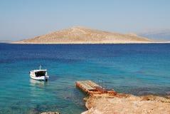 Île de Nissos, Halki Photographie stock libre de droits