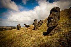 Île de Pâques -, tête d'un moai simple Photographie stock libre de droits