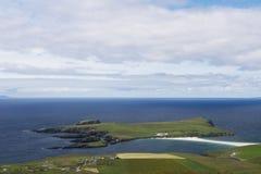 Île de rue Ninian, les Îles Shetland Photographie stock