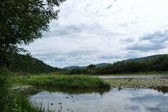 Le ` de Skolivski Beskydy de ` de gamme de montagne dans les Carpathiens ukrainiens près de la ville de Skole dans la région de L Image libre de droits