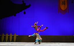 """Le  de teenager†de Pékin Opera""""Yue des moment-enfants sautants Photo libre de droits"""