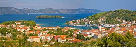 Île de vue panoramique de Veli Iz Photos libres de droits