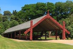 Le ` de Whare Waka de `, ou maison de canoë, chez Watangi, le Nouvelle-Zélande Photographie stock