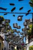 Le decorazioni della via in Camara de Lobos un paesino di pescatori vicino alla città di Funchal ed ha alcune di più alte scoglie Fotografia Stock Libera da Diritti