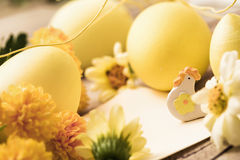 Le decorazioni di Pasqua si chiudono su Immagine Stock