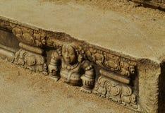 Le decorazioni di un punto ad un tempio fotografia stock libera da diritti