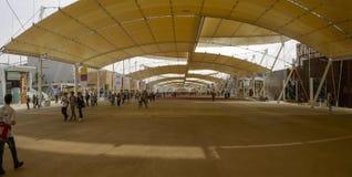 Le Decumano large, EXPO Milan 2015 Photo stock
