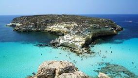 Le dei Conigli, la mer Méditerranée d'île/Isola de lapins photo libre de droits