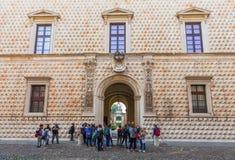 Le dei Diamanti de Palazzo est un palais de la Renaissance à Ferrare, Italie Image libre de droits