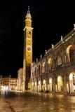 Le della Bissara de Torre de tour d'horloge à Vicence, Italie Images stock