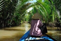 Le delta de Mekong Images libres de droits