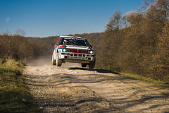 Le delta Integrale de Lancia concurrence au rassemblement annuel Galicie Photos stock