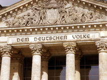 Le DEM deutschen le volke image libre de droits