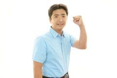 Le den asiatiska mannen royaltyfri bild