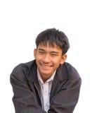 Le den asiatiska mannen, stilig man som ler Thailand Royaltyfria Foton