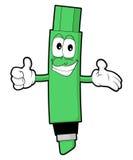 Le den gröna markören Stock Illustrationer