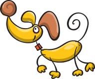 Le den gula hunden Arkivfoton