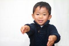 Le den japanska pojken Arkivfoto