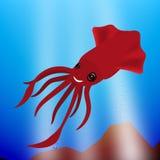 Le den lilla tioarmade bläckfisken Arkivfoton
