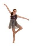 Le den tonåriga lyriska dansaren Arkivbilder