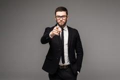 Le den unga affärsmannen som pekar fingret på dig Royaltyfri Fotografi
