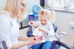 Le dentiste des enfants Photographie stock libre de droits