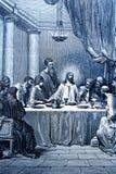 Le dernier dîner illustration de vecteur