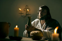 Le dernier dîner de Jesus Christ Images libres de droits