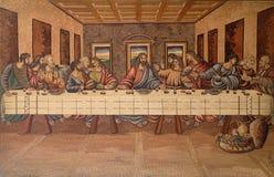 Le dernier dîner du Christ et des disciples image libre de droits