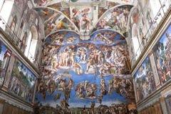 Le dernier jugement, chapelle de Sistine Images stock